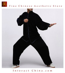 Flowing Unisex Velvet Suit for Tai Chi and Leisure Time in Chinese Style #103