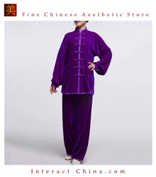 Flowing Unisex Velvet Suit for Tai Chi and Leisure Time in Chinese Style #107