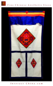 "100% Handcraft Cotton Tibetan Drape Door Panel Curtain 35x71"" Wall Hanging #116"