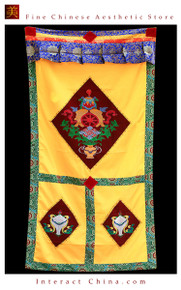 "100% Handcraft Cotton Tibetan Drape Door Panel Curtain 35x71"" Wall Hanging #118"