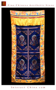 "100% Handcraft Cotton Tibetan Drape Door Panel Curtain 35x71"" Wall Hanging #119"