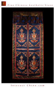 "100% Handcraft Cotton Tibetan Drape Door Panel Curtain 35x71"" Wall Hanging #123"