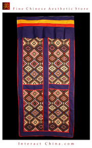 "100% Handcraft Cotton Tibetan Drape Door Panel Curtain 35x71"" Wall Hanging #124"