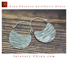 Fine 99 Earrings High Purity Sterling Silver Jewelry 100% Handcrafted Art #101