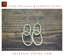 Fine 99 Earrings High Purity Sterling Silver Jewelry 100% Handcrafted Art #104