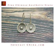 Fine 99 Earrings High Purity Sterling Silver Jewelry 100% Handcrafted Art #119