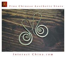 Fine 99 Earrings High Purity Sterling Silver Jewelry 100% Handcrafted Art #129