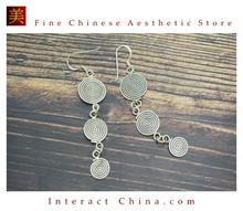 Fine 99 Earrings High Purity Sterling Silver Jewelry 100% Handcrafted Art #130