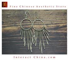 Fine 99 Earrings High Purity Sterling Silver Jewelry 100% Handcrafted Art #131