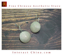 Fine 99 Earrings High Purity Sterling Silver Jewelry 100% Handcrafted Art #135