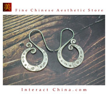 Fine 99 Earrings High Purity Sterling Silver Jewelry 100% Handcrafted Art #137