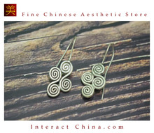 Fine 99 Earrings High Purity Sterling Silver Jewelry 100% Handcrafted Art #143