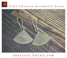 Fine 99 Earrings High Purity Sterling Silver Jewelry 100% Handcrafted Art #144