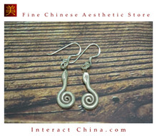 Fine 99 Earrings High Purity Sterling Silver Jewelry 100% Handcrafted Art #145