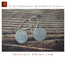 Fine 99 Earrings High Purity Sterling Silver Jewelry 100% Handcrafted Art #146