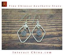 Fine 99 Earrings High Purity Sterling Silver Jewelry 100% Handcrafted Art #149