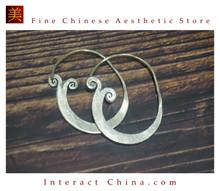 Fine 99 Earrings High Purity Sterling Silver Jewelry 100% Handcrafted Art #150