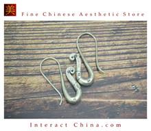 Fine 99 Earrings High Purity Sterling Silver Jewelry 100% Handcrafted Art #151
