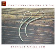 Fine 99 Earrings High Purity Sterling Silver Jewelry 100% Handcrafted Art #153