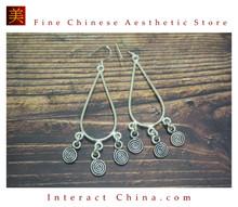 Fine 99 Earrings High Purity Sterling Silver Jewelry 100% Handcrafted Art #154