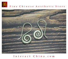 Fine 99 Earrings High Purity Sterling Silver Jewelry 100% Handcrafted Art #155