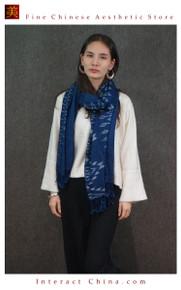 Super Soft Reversible 100% Handloom Woven Thai Ikat Batik Women Cotton Scarf Pashmina Shawl Fair Trade #102