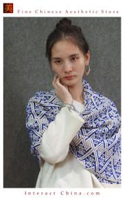 Elegant Reversible 100% Handloom Woven Solid Ethnic Brocade Women Scarves Long Shawl  Fair Trade #101