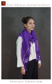 Cashmere Feel 100% Handloom Woven Handloom Check Stripes Plaid Scarf Wrap Fair Trade #102