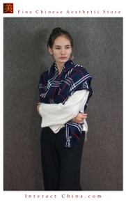 Cashmere Feel 100% Handloom Woven Handloom Check Stripes Plaid Scarf Wrap Fair Trade #106