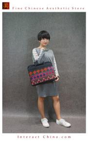 Boho Chic 100% Hand Embroidered Tribal Women Vintage Weekender Tote Shoulder Bag #102
