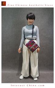Boho Chic 100% Hand Embroidered Tribal Women Vintage Weekender Tote Shoulder Bag #106