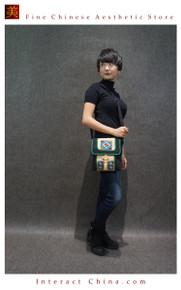 Boho Chic 100% Hand Embroidered Tribal Women Vintage Weekender Tote Shoulder Bag #107