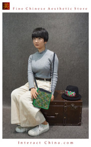Boho Chic 100% Hand Embroidered Tribal Women Vintage Weekender Tote Shoulder Bag #108