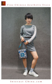 Oriental Tribal Chic 100% Hand Embroidery Women Girls Floral Cotton Shoulder Bag Handbag #101