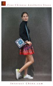 Oriental Tribal Chic 100% Hand Embroidery Women Girls Floral Cotton Shoulder Bag Handbag #102
