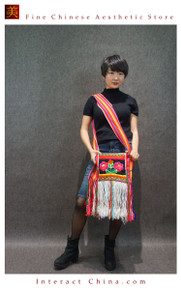Ethnic Hippie Chic 100% Hand Embroidered Floral Shoulder Cross Body Tassel Bag Fair Trade #101