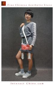 100% Handloom Woven Embroidery Fair Trade Women Girls Beach Casual Light Cotton Shopper Cross Body Bag #102