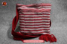 100% Handloom Woven Embroidery Fair Trade Bohemian Cotton Weekender Cross Body Tassel Decorative Bag #102