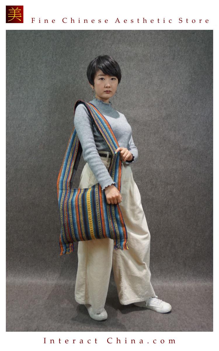 Ethnic Boho Tassel Fringe Cotton//Linen Woven Festival Shoulder Tote Bag 4 Styles