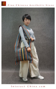 100% Ethnic Handloom Woven Fair Trade Gypsy Music Festival Tote Indian Shoulder School Bag #101