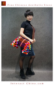 100% Handloom Woven Embroidery Fair Trade Urban Chic Tassel Fringe Tote Handbag Cross Body Shoulder Bag #102