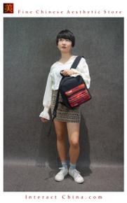 Boho Chic 100% Hand Embroidered Tribal Women Girl Vintage Weekender Backpack Rucksack #101