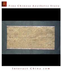 Asian Vintage Textile Art Antique Applique Embroidery 100% Ethnic Needlework #126