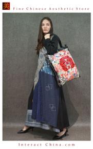 Retro Style Handsewn Shoulder Bag Antique Hand Embroidery Women Luxury Leather Handbag Spacious Hobo Bag #101