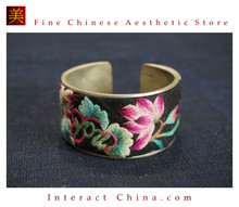 100% Handcrafted Women Fashion Silver Bracelet Everyday Arm Cuff Antique Embroidery One of A Kind Bangle #103