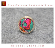 100% Handcrafted Antique Embroidery Women Silver Ring One Of A Kind Boho Statement Adjustable Ring #110