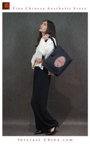 Retro Style Handsewn Shoulder Bag Antique Hand Embroidery Women Luxury Cotton Handbag Spacious Hobo Bag #105