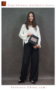 Retro Style Handsewn Shoulder Bag Antique Hand Embroidery Women Luxury Cotton Handbag Spacious Hobo Bag #108