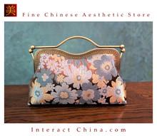 Classy Handcrafted Silk Brocade Handbag Everyday Weekend Crossbody Bag Kiss Lock Travel Shoulder Bag #101