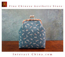 Classy Handcrafted Silk Brocade Handbag Everyday Weekend Crossbody Bag Kiss Lock Travel Shoulder Bag #104